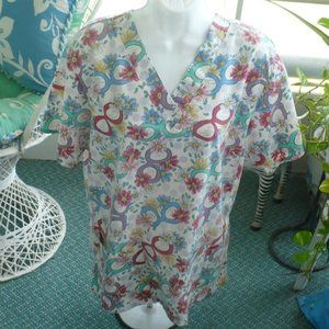 ❤️ FASHION SCRUBS TOP WOMEN'S FLORAL T-12